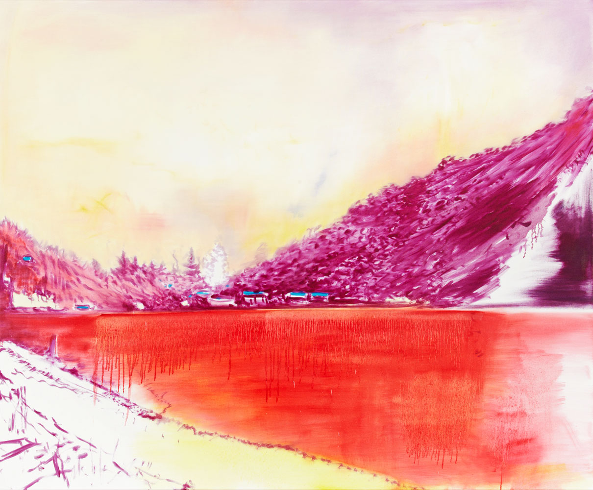 blutig allzu blutig siecht der See das Licht wie nach einem Supergau unwirklich alles verseuchend